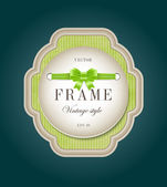 Green vector vintage style cardboard label — Vector de stock