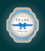 Blue vector vintage style cardboard label — Stockvektor