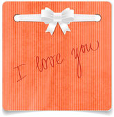 Orange vector hand made paper textured note — Vetorial Stock