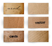 Vector vintage used old paper banners with handwritten text patterns — ストックベクタ