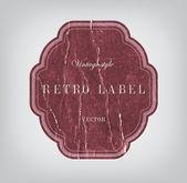 Vector vintage distressed crumpled cardboard label — Stock Vector