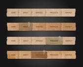 Vector oud papier Navigatie balken collectie — Stockvector