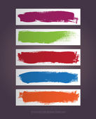 A set of vector hand painted banner backgrounds — Vettoriale Stock