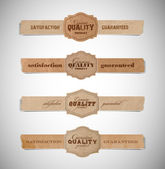 A set of vector vintage old torn paper and cardboard labels — Stock Vector
