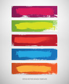 A set of vector hand painted banner backgrounds — Stockvektor