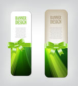 Colorful green vector banners with elegant backgrounds — Stockvector