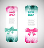 Colorful vector banners with elegant backgrounds — Stockvektor