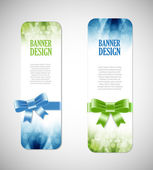 Colorful vector banners with elegant backgrounds — Stockvector