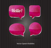 Vector 3d ruby glossy speech bubbles collection — Vettoriale Stock