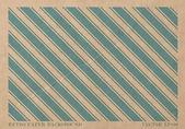 着けブルー ストライプ幾何学的なプリントとベクトル ビンテージ色あせた紙カード — ストックベクタ