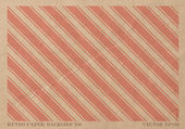 Vector vintage faded paper card with worn out red striped geometric print — Stock Vector