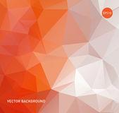 Light orange vector abstract polygonal background — Stock Vector