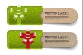 Vintage vektor papper kartong texturerat banners samling — Stockvektor