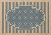 Vektor vintage bleknat papper bakgrund med en retro ram - blå — Stockvektor