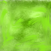 Hand painted artistic green grungy abstract background — Stock Photo