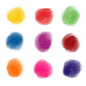 Abstract hand painted watercolor spots — Stock Photo