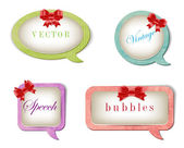 A set of vector retro elegant paper textured speech bubbles — Vector de stock