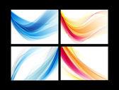 青とオレンジ色の滑らかなベクトルの背景を設定 — ストックベクタ