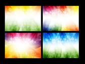 Colorful smooth vector backgrounds set — Stok Vektör