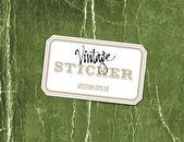 Vector vintage crumpled paper sticker — Stock Vector