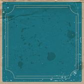 Vector blue paper background with retro frame. — Stock Vector