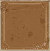 Vector brown paper background with retro frame. — Stock Vector