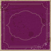 Vector purple paper background with retro frame. — Stock Vector