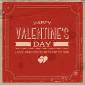 Vector retro weathered valentine's day poster — 图库矢量图片