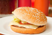 Kaas hamburger — Stockfoto
