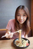 Eating Noodle — Foto de Stock