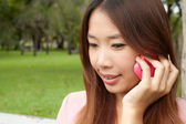 Asian girl with Mobile — Stock Photo