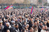 People protesting against government , shown on March 1 , 2014 in Yerevan , Armenia — Stock Photo