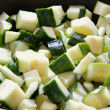 Chopped zucchini — Stock Photo
