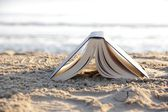 Book on the beach — Stock Photo