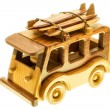 Wooden toy wan — Stock Photo