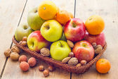 Fruit basket — Stock Photo