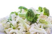 Broccoli and cauliflower — Stock Photo