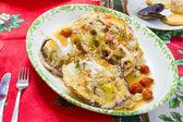 Cuttlefish Stuffed With Tomato — Stock Photo