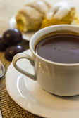 Hot chocolate cup — Stock Photo