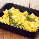 Baked potatoes with rosemary — Stock Photo #21653963