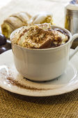 Hot chocolate cup with whipped cream — Stock Photo