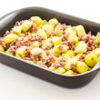 Potatoes with sausage — Photo