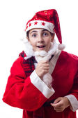 Little girl with christmas costume — Stock Photo