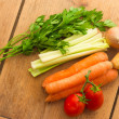 Vegetables for vegetable broth — Stock Photo