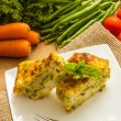 Vegetable flan — Stock Photo