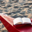 Stockfoto: Book on beach