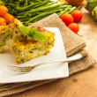 Stock Photo: Vegetable flan