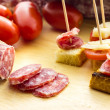 Stock Photo: Finger food salami