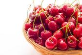 Ripe red cherry berries — Stock Photo