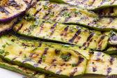 Grilled Eggplant and Zucchini Salad — Stock Photo